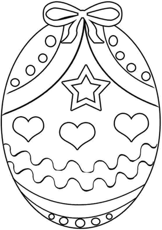 Easter Egg Colouring Sheets Free For Preschool