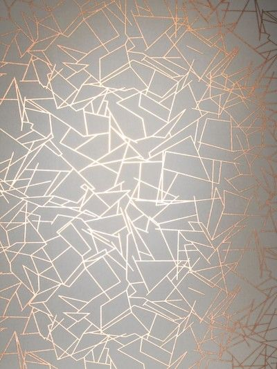Angles (ANG CCC) - Erica Wakerly Wallpapers - An unusual, stylish design with lots of different shapes and angles overlapped, to give a random effect. shown in metallic copper rose and white. Other colour ways available. Please request a sample for true colour match. Paste-the-wall product. Pattern repeat 53cm.