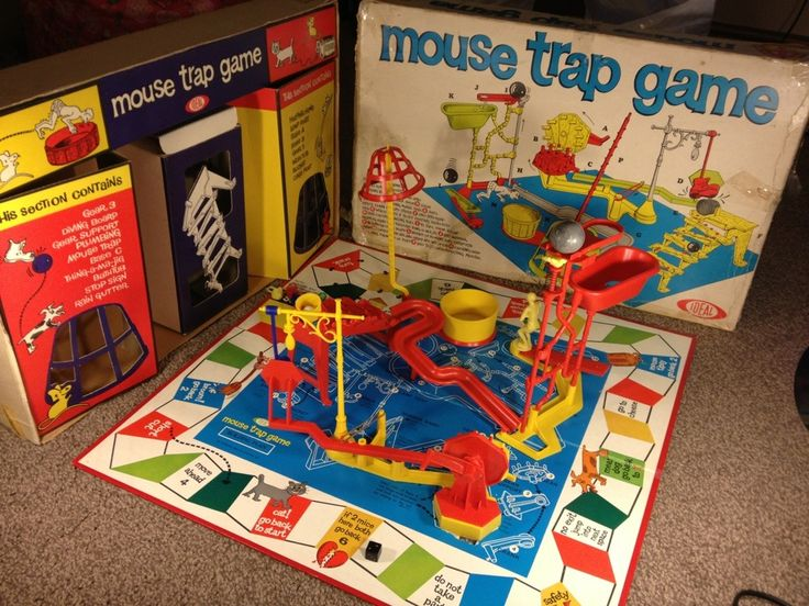 If you were born in 1963, that year the Ideal Co. first manufactured and sold the Mouse Trap Game.