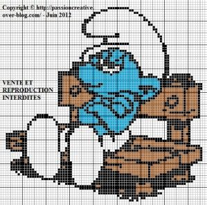 10 best images about smurfs pixel art perler beads on pinterest patrones the smurfs and bebe - Stroumph grognon ...
