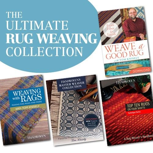 Learn how to weave dozens of rugs from rag rugs to rep weave and much more with the Ultimate Rug Weaving Collection!