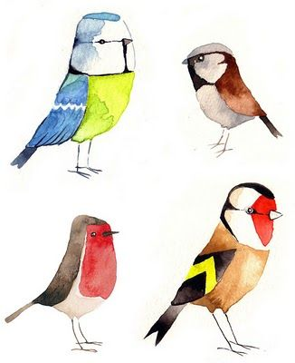 Matt Sewell's Bird Watercolours