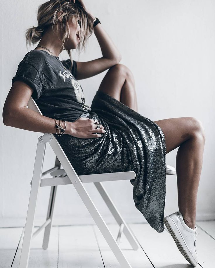 Rock 'n' Roll Style ✯ Silver Sequins #loveandleather #itsonlyrockandroll