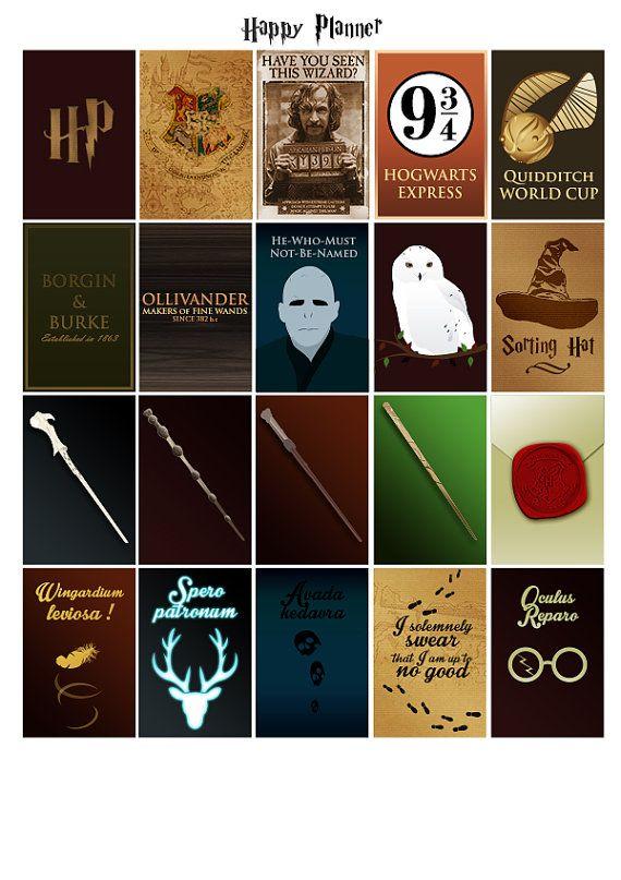 Printable stickers Harry Potter 4 pdf par Lateliercreatif06