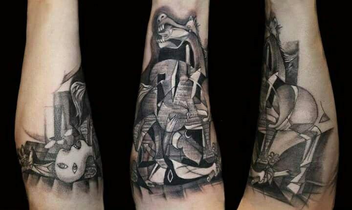 Picasso Guernica tattoo