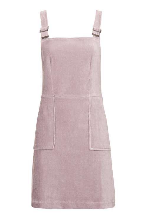 Cord Velvet Pinafore Dress TOPSHOP