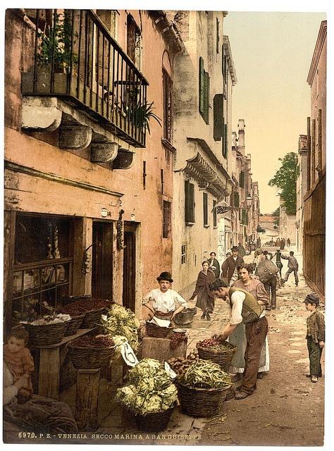 A street in Venice, Italy 1890-1900