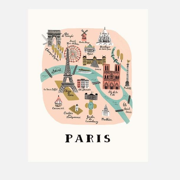 Paris by Rifle Paper. Poster