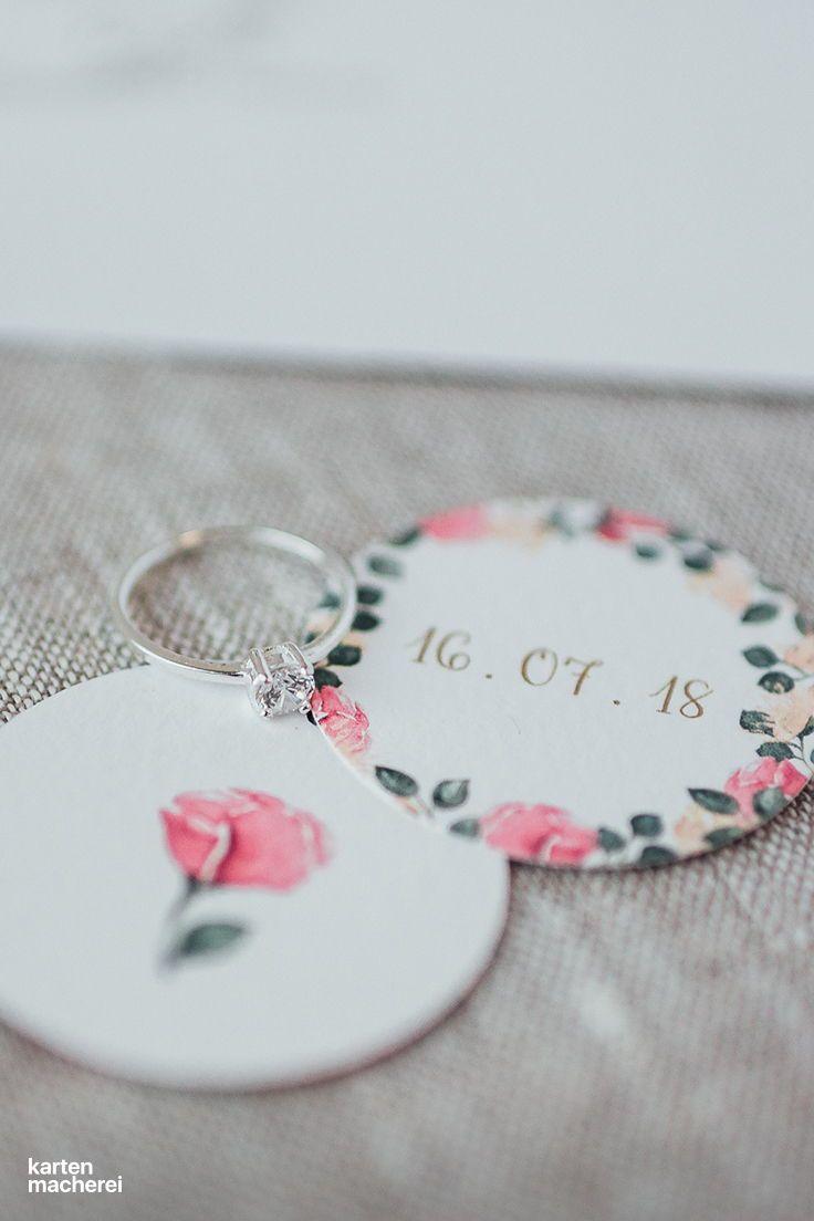 Anhanger Mit Seidenband Vintage Rose Hochzeit Boho