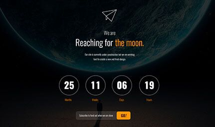 Free HTML Coming Soon / Countdown Page [PSD Included]