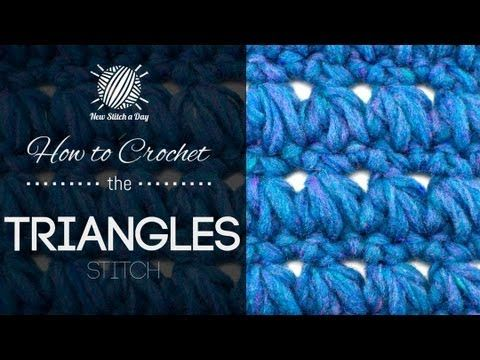 This video crochet tutorial will help you learn how to crochet the triangles stitch. For written instructions and photos please visit: http://newstitchaday.com/how-to-crochet-the-triangles-stitch