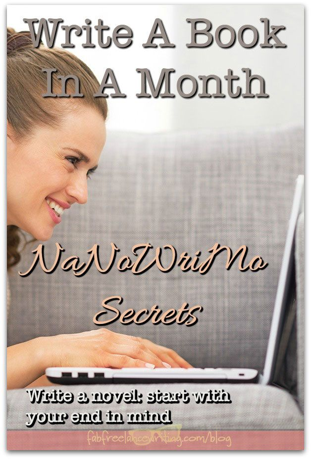 write a book in a month Learn how to be an author and write a book or novel  use to take your concept  through to final manuscript in about a month, writing about an hour each day.