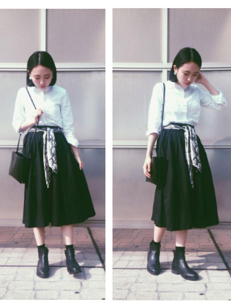 kanaさんのバンダナ/スカーフ「GALERIE VIE シルクスカーフ」を使ったコーディネート