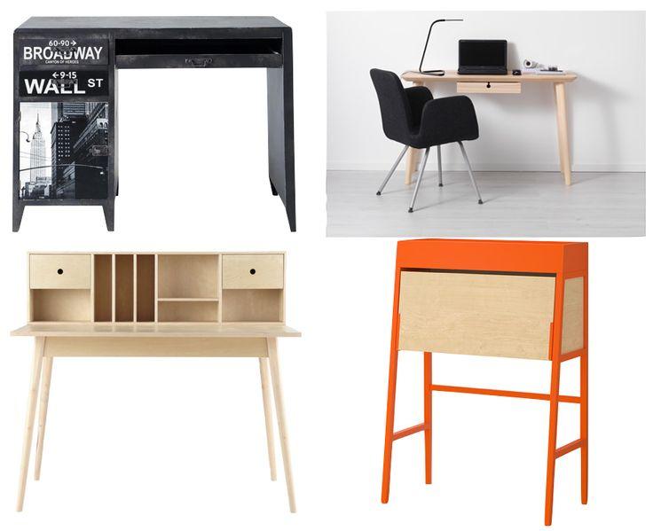 Bureau pour enfant pas cher adulte moins de 200 euros. coin bureau inspiration bois clair bois orange new-york