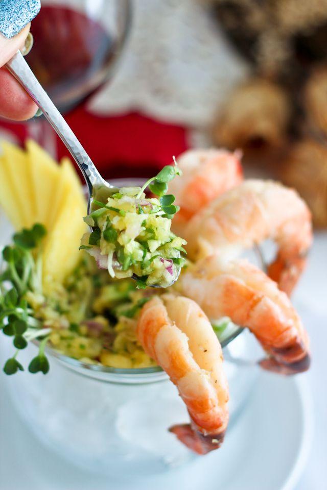 Shrimp Cocktail with Mango Avocado Salsa