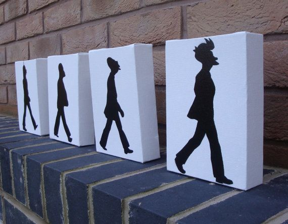 The Beatles  Futurama Abbey Road Fry Professor by Ramart79 on Etsy, £25.00