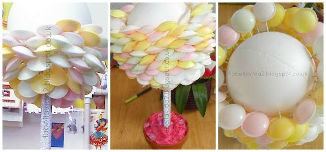 How to make a flying saucer sweet tree