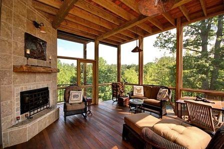 dream porch.Rustic House, Screens Porches, Outdoor Living, Rustic Decor, Outdoor Room, Back Porches, Dreams Porches, Screened Porches, Rustic Home