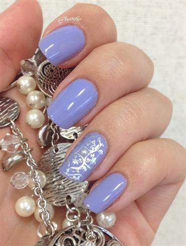 Lilac and pearl  (Nail art) (Lilac and Pearl)  #nailart #nails #naildesigns #nail picture