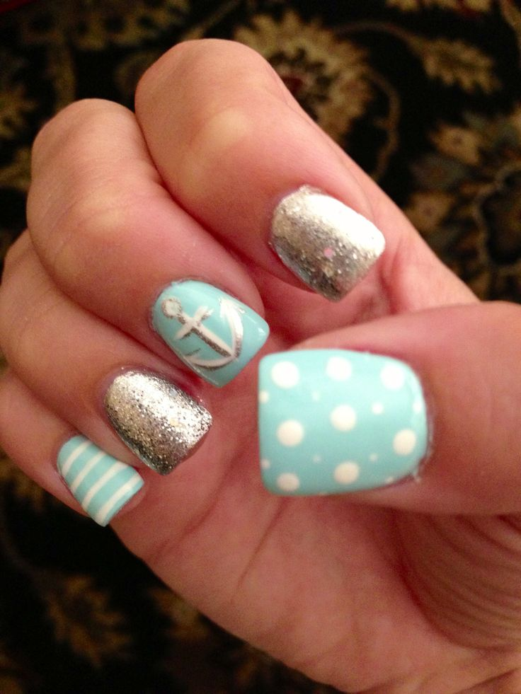 Top 25+ Best Teal Acrylic Nails Ideas On Pinterest