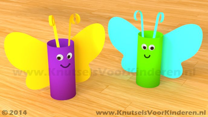 Vlinder van wc rol - Knutsels Voor Kinderen - Leuke Ideeën om te Knutselen met Duidelijke Uitleg