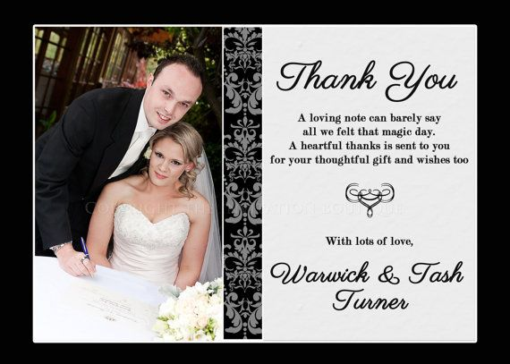 23 best Wedding Thank You Notes images on Pinterest Notes - wedding thank you note