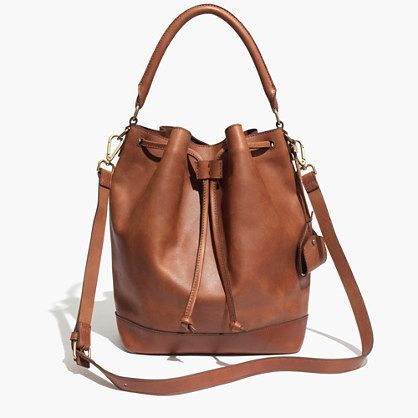 The Lafayette Bucket Bag | Really love that this has the short handle rather than just a long strap.