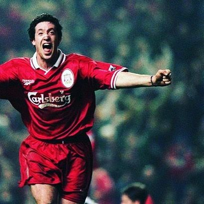Robbie fowler of Liverpool - featuring that nose plaster thing... Grab this iconic home shirt from 96/98 now. #lfc #liverpool #liverpoolfc #ynwa #football #footballplayer #fowler #robbiefowler #retro #retroshirt #retrofootball #vintage #vintagefootball #90s #90sfootball  #premiership #premierleague #anfield #oldschool #soccer