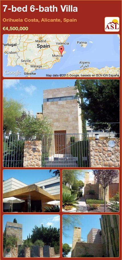 7-bed 6-bath Villa in Orihuela Costa, Alicante, Spain ►€4,500,000 #PropertyForSaleInSpain