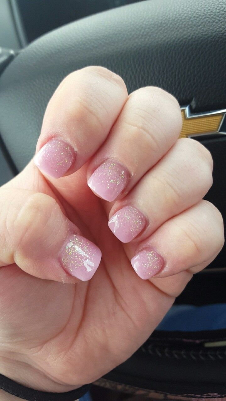 sparkle ombre nails, so happy #nails #solar #sparkle #ombre