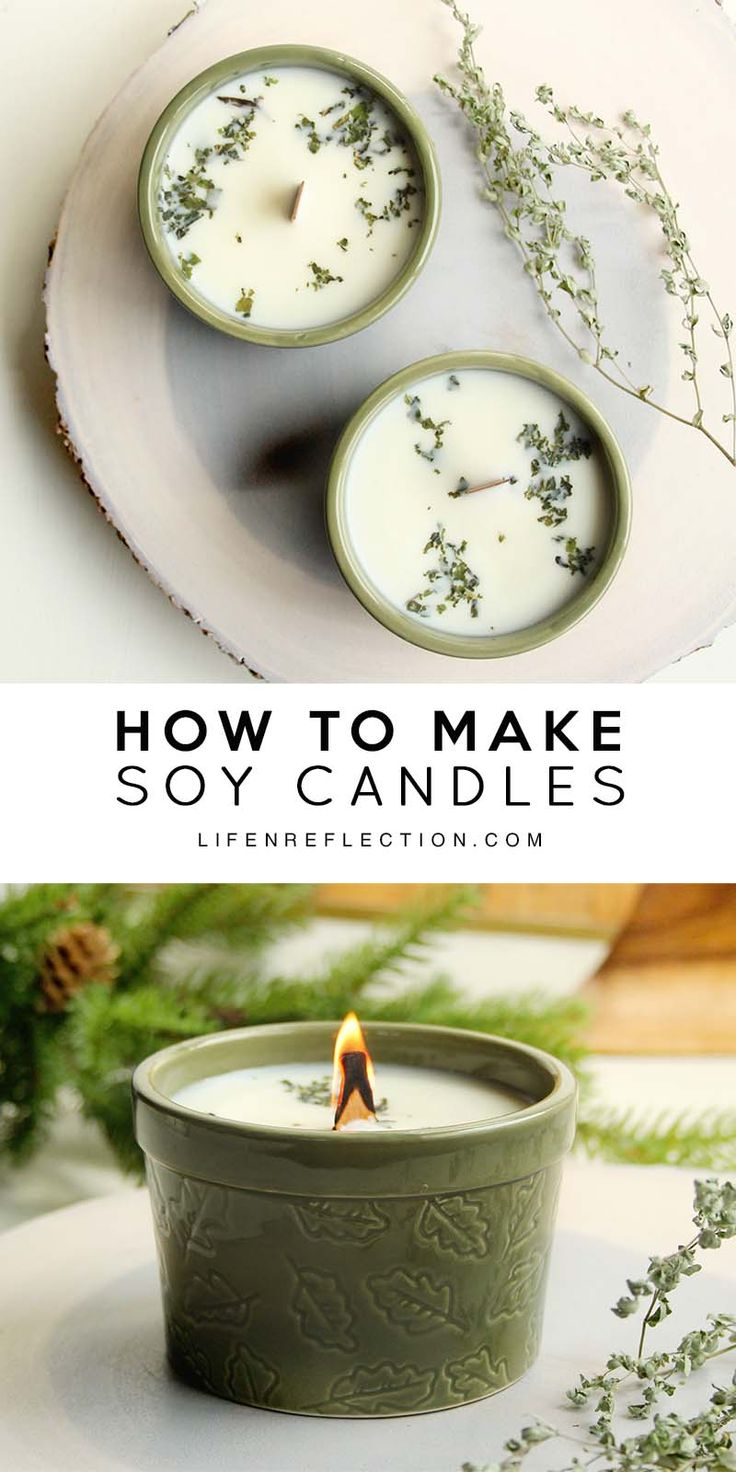 How to Make Blue Spruce Hand Poured Candles / DIY Holiday Christmas Spruce Candles