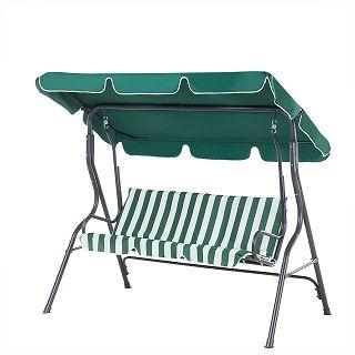 Schommelbank groen--wit - tuinmeubel - schommelstoel - tuinschommel - CHAPLIN