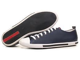 prada blue tennis shoes