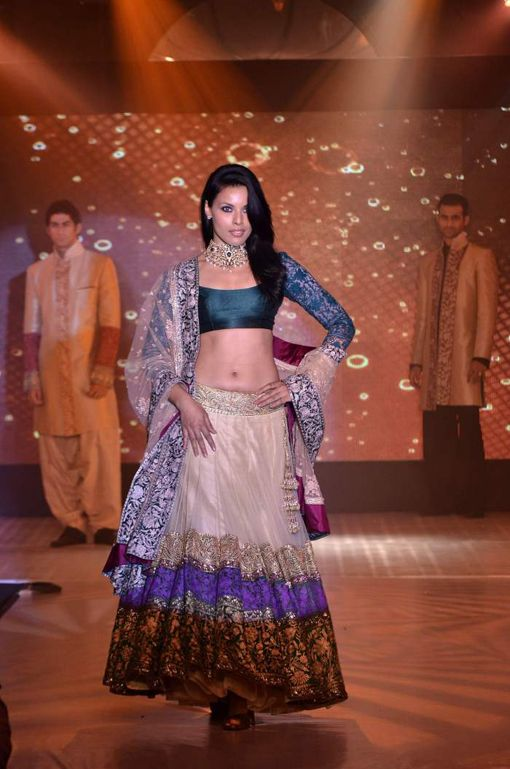 Indian wedding lehenga by Manish Malhotra. Click through for more.