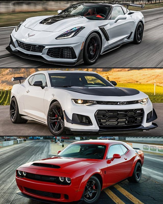 Who You Got Corvette Zr1 Camaro Zl1 1le Or Thedodge Demon