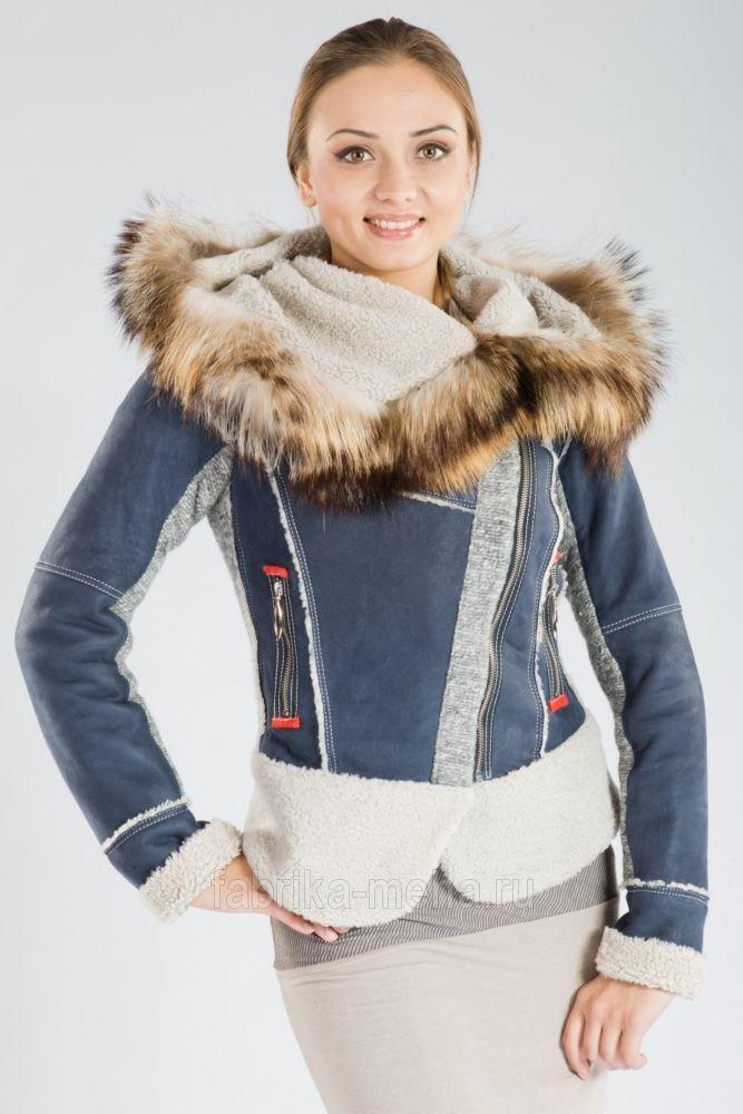Куртка-дубленка из овчины с капюшоном | ФАБРИКА МЕХА меховой салон в Новосибирске
