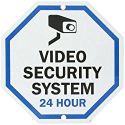 "SmartSign Aluminum Sign Legend ""Video Security System 24 Hour   #Security #Video"