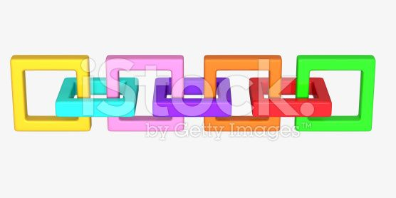 colored chain royalty-free stock photo