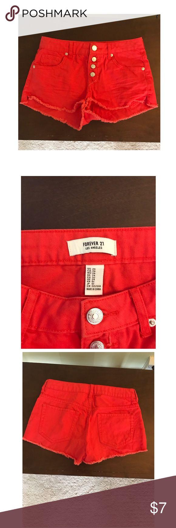 Forever 21 shorts Forever 21 red shorts size 24 Forever 21 Shorts