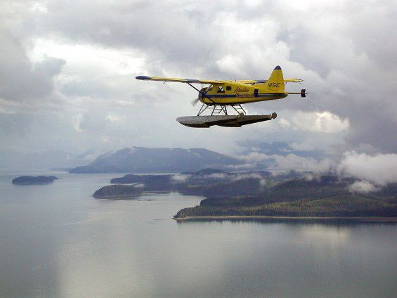 One of the many DeHavilland Beavers flying out of the Vancouver based Harbour Air Seaplane Service.  They are everywhere.  Love 'em.