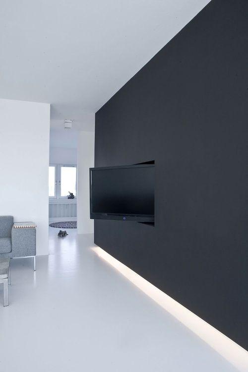 25+ ide terbaik tentang Tv Wand Schwarz di Pinterest Tv an wand - wohnzimmer tv wand