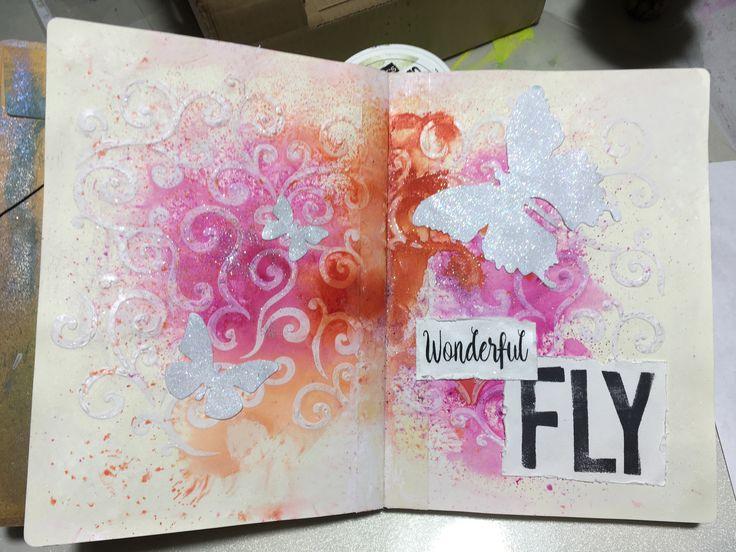 Mi último artjournal de mariposas