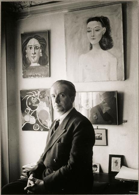 Paul Éluard by Brassaï (Halász Gyula), 1944