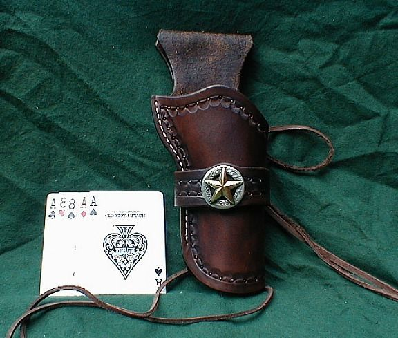 Brown Western Cowboy Holster SASS CAS FAST DRAW 4 3/4 Competition Holster