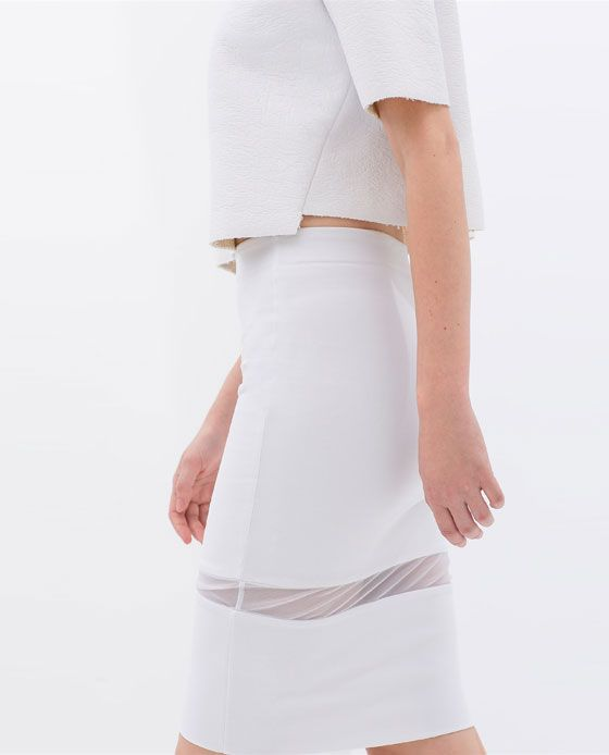 Image 5 of TUBE SKIRT WITH SHEER DETAIL from Zara  Ref. 5039/023  HEIGHT OF MODEL:175 CM  15.95 EUR