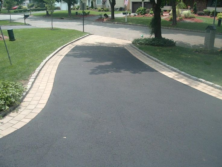 Driveway Concrete Paver Border On Asphalt Google Search