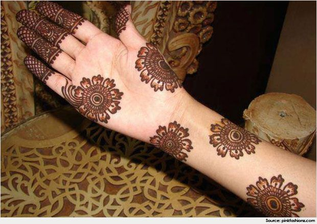 Circle or Round Mehndi Designs