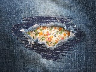 patching jeans