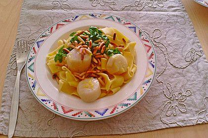 Zitronen-Linguine mit Jacobsmuscheln