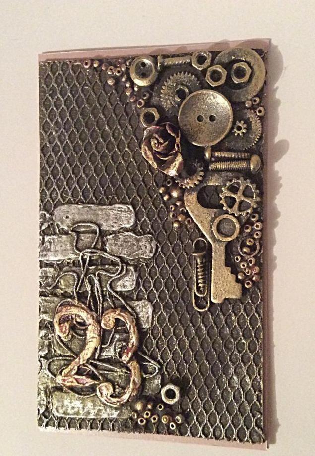 Делаем открытку-магнит к 23 февраля из того, что есть под рукой - Ярмарка Мастеров - ручная работа, handmade